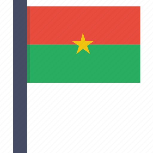 african, burkina, country, faso, flag, national icon