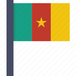 african, cameroon, cameroonian, country, flag, national icon