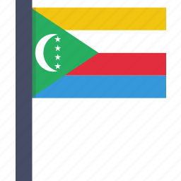 african, comoros, country, flag, national icon