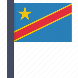 african, congo, country, democratic, flag, national icon