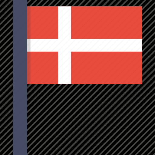 country, danish, denmark, european, flag, national icon