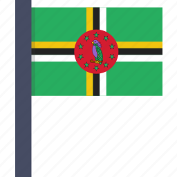 country, dominica, flag, national icon