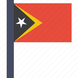 asian, country, east, flag, national, timor icon