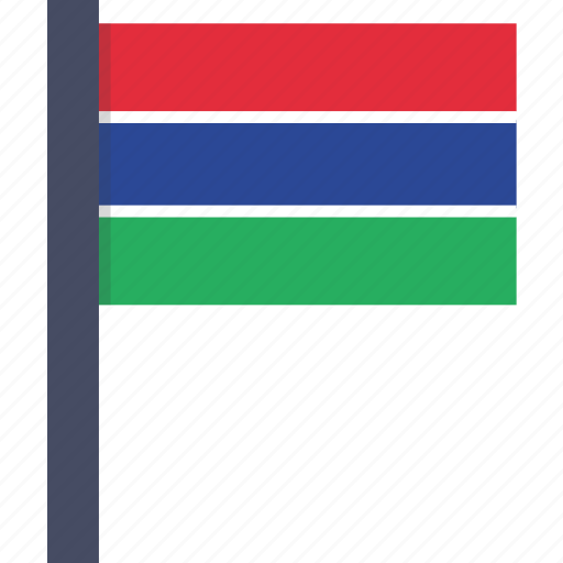 african, country, flag, gambia, gambian, national icon