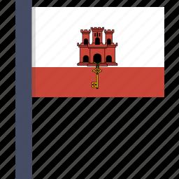 country, european, flag, gibraltar, national icon