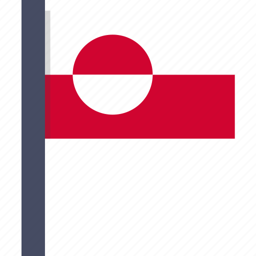 country, flag, greenland, greenlandic, national icon