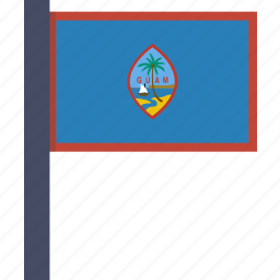 country, flag, guam, national icon