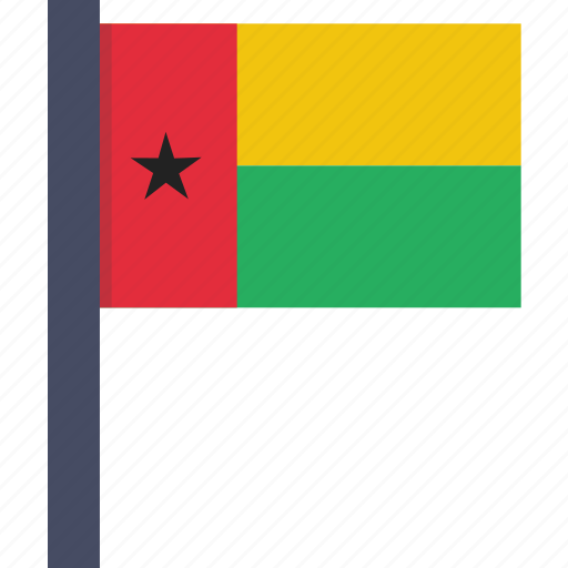 african, bissau, country, flag, guinea, national icon