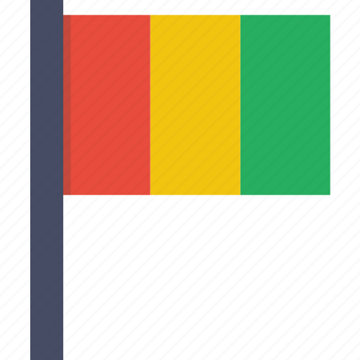 african, country, flag, guinea, guinean, national icon