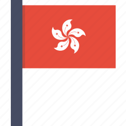 asian, country, flag, hong kong, national icon