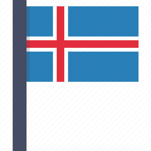 country, flag, iceland, icelandic, national icon