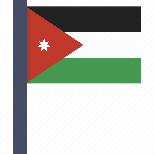 asian, country, flag, jordan, jordanian, national icon