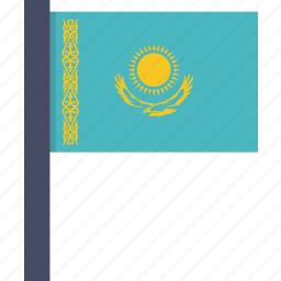 asian, country, flag, kazakhstan, kazakhstani, national icon