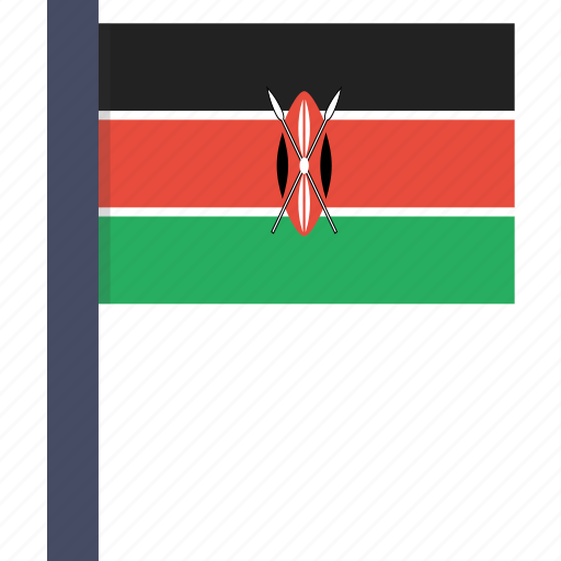 african, country, flag, kenya, kenyan, national icon