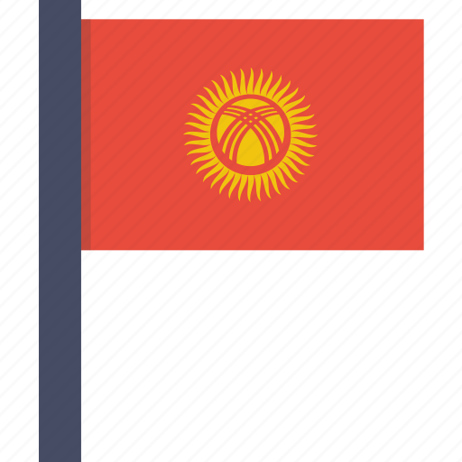asian, country, flag, kyrgyzstan, kyrgyzstani, national icon