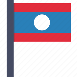 asian, country, flag, laos, laotian, national icon