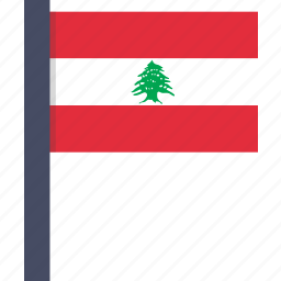 country, european, flag, lebanese, lebanon, national icon
