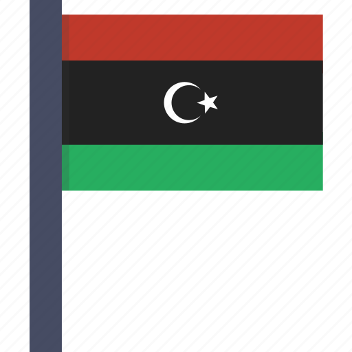 african, country, flag, libya, libyan, national icon