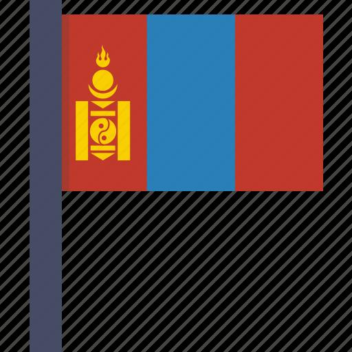 asian, country, flag, mongolia, mongolian, national icon