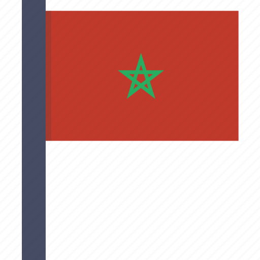 country, flag, moroccan, morocco, moroccon, national icon