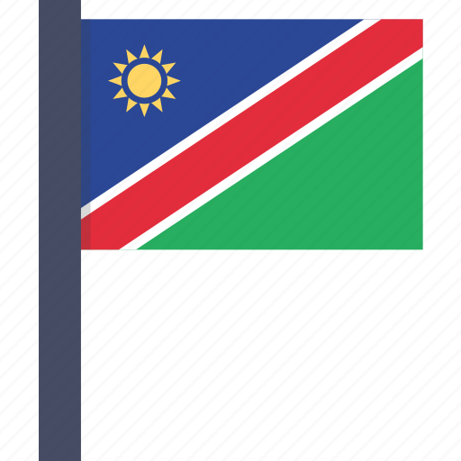 african, country, flag, namibia, namibian, national icon