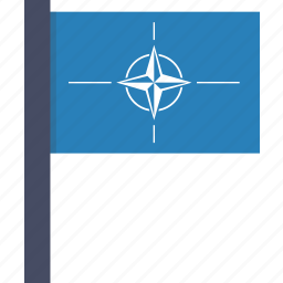 flag, nato, north atlantic, organisation, treaty icon