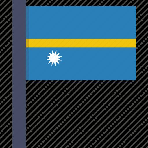 country, flag, national, nauru icon