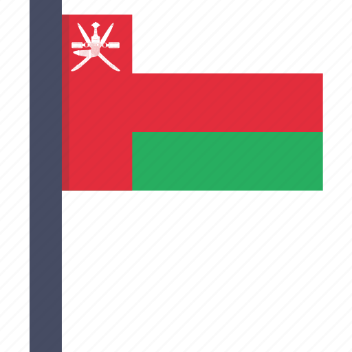 country, flag, national, oman, omani icon