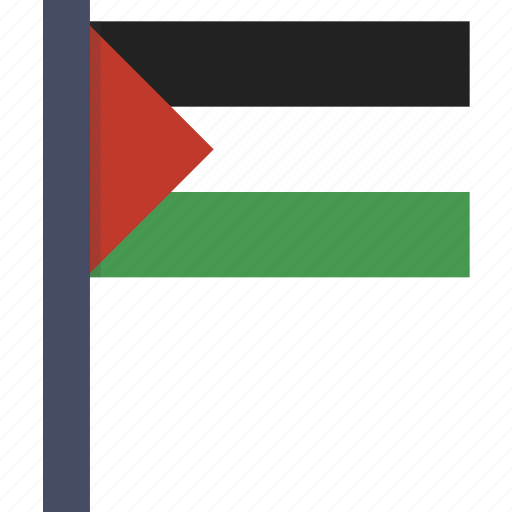 country, flag, national, palestine, palestinian icon