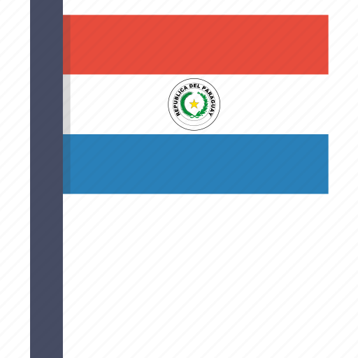 country, flag, national, paraguay, paraguayan icon