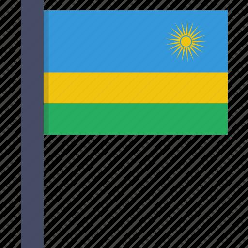 african, country, flag, national, rwanda icon