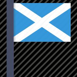 country, european, flag, national, scotland, scottish icon