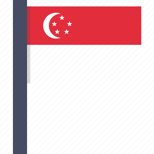 asian, country, flag, national, singapore, singaporean icon