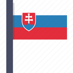 asian, country, flag, national, slovakia, slovakian icon