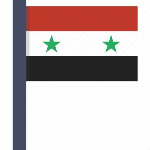 asian, country, flag, national, syria, syrian icon
