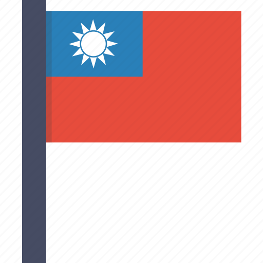 asian, country, flag, national, taiwan, taiwanese icon
