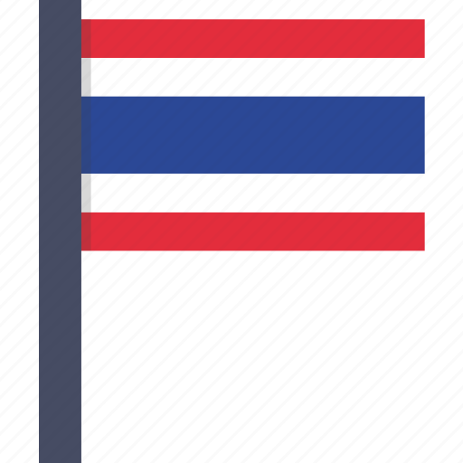 country, flag, national, thai, thailand icon