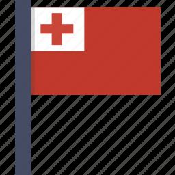 country, flag, national, tonga icon