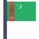 asian, country, flag, national, turkmenistan icon