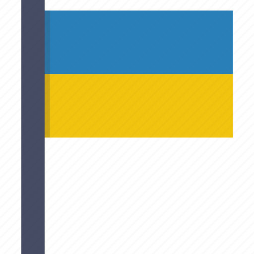 country, flag, national, ukraine, ukrainian icon