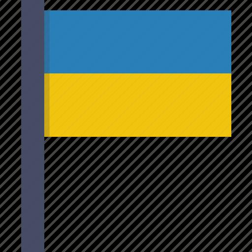 country, flag, national, ukraine, ukrainian icon
