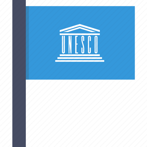 flag, organisation, unesco, united nations icon