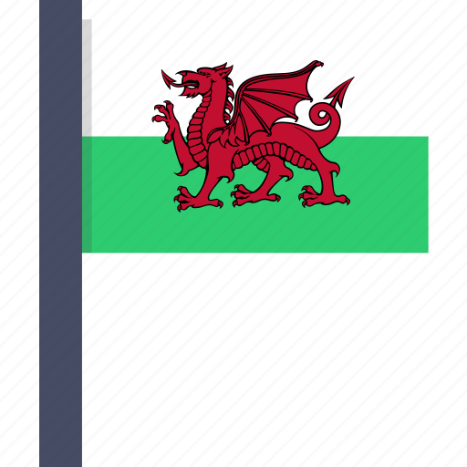 country, flag, national, wales, welsh icon