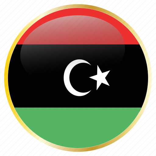 country, flags, libya icon