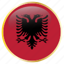 albania, country, flag, flags icon