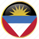 and, antigua, barbuda, country, flag, national icon