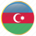 azerbaijan, country, flags icon