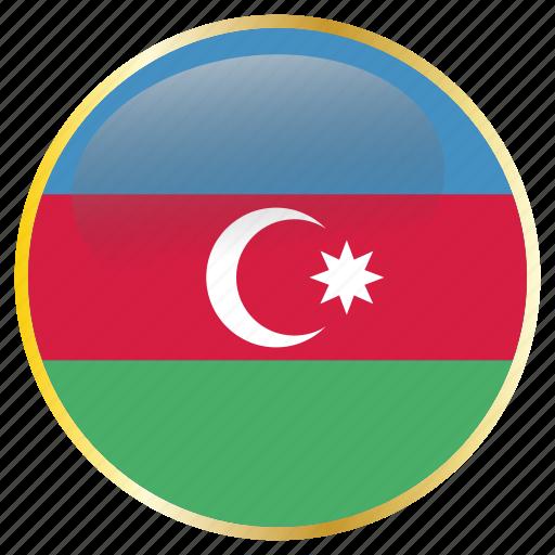 azerbaijan, country, flags icon