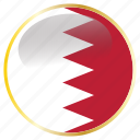 bahrain, country, flags icon