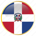 country, dominican, flag, national, republic icon